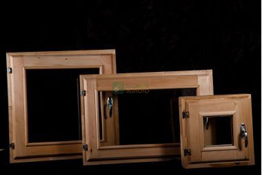 Оконный блок 40х60 двойное остекление (липа)
