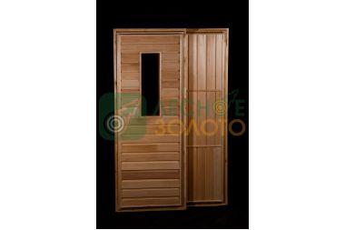 Дверь банная ДГО липа 700х1900 сорт В со стеклом