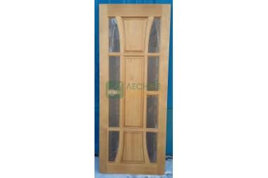 Дверь ДГО  Венеция 800х2000 светлый орех матовый,боковое остекл,дельта  уценка