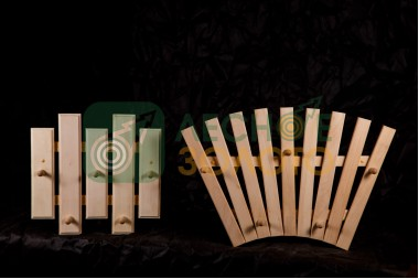 Вешалка для мочалок 5с с крючками (липа)(3)