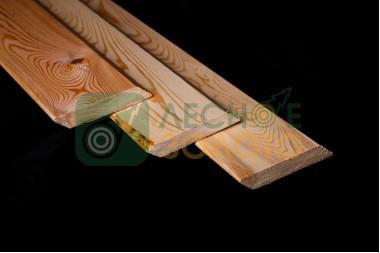 Доска палубная (планкен скошен) 20х110х1000, б/с листв.