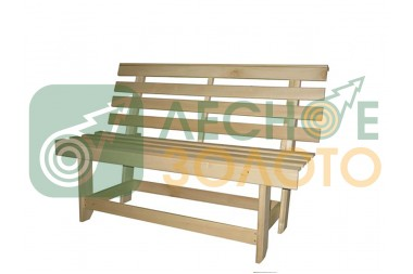 Скамейка со спинкой 1,3м х 45см (осина)
