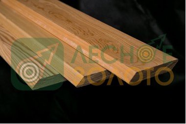 Доска палубная (планкен скошен) 20х140х2500, А листв.
