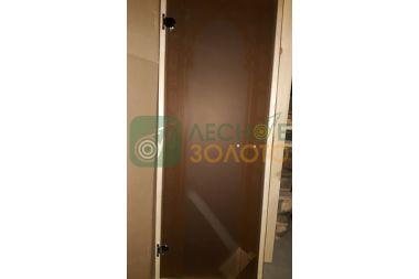 Дверь Стекло бронза с рис.Арка 6мм 680х1800 коробка листв.