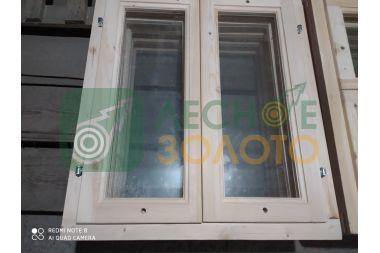 Оконный блок 80х70 одно стекло,2-е створки, толщ, коробки 40мм