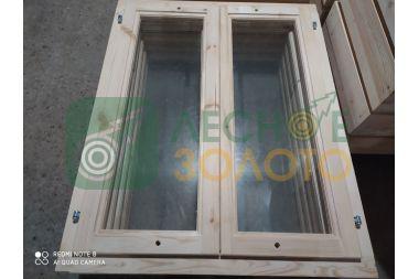 Оконный блок 100х80 одно стекло,2-е створки, толщ, коробки 40мм