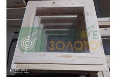Оконный блок 50х50 одно стекло,1-а створка, толщ, коробки 100мм