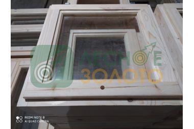 Оконный блок 50х50 одно стекло,2-е створки, толщ, коробки 140мм