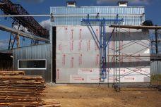 Этапы строительства сушильной камеры №6. август 2019