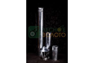 Дымоходная труба нерж.d 115х0,5мм-0,25метр