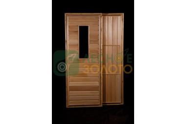 Дверь банная ДГО липа 700х1900 сорт А со стеклом