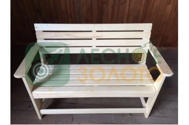 Скамейка  с подлокотником 1,2м(липа)(3) полок