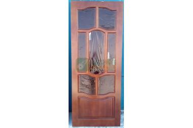 Дверь ДО Элегия  800х2000 темный орех глянец,стекло водопад уценка