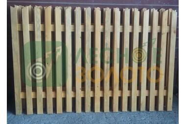 Заборный пролёт 1,3х2 (штакет 20х65) кос.срез ЛЗ Уценка