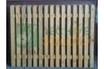 Заборный пролёт 1,3х2 (штакет 20х65) закруг. ЛЗ Уценка