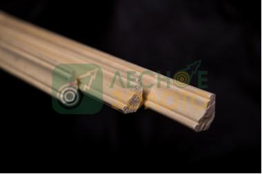Плинтус(Галтель)  8х19(15х15)х3000, сорт Э*, сосна