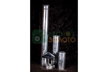 Дымоходная труба оцинк.d 115х0,5мм-0,5метр