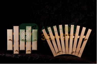 Вешалка для мочалок 3с с крючками (липа)(3) уценка