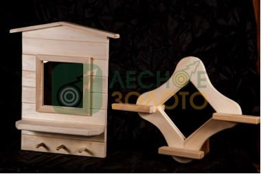 Зеркало-домик большое (липа)(1) уценка