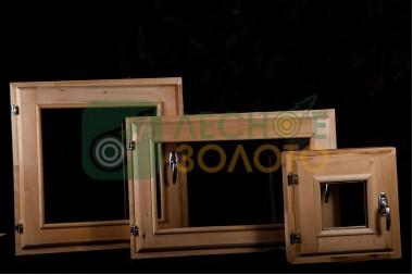 Оконный блок 40х40 двойное остекление(осина)