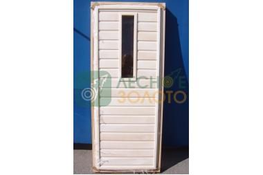 Дверь банная ДГО осина 700х1800 сорт А со стеклом