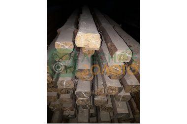 Лафет(полубрус) сосновый 80х80-100х3000